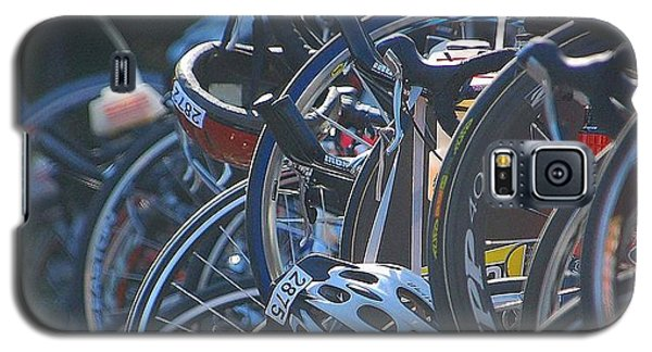 Galaxy S5 Case featuring the photograph Racing Bikes by Sarah McKoy