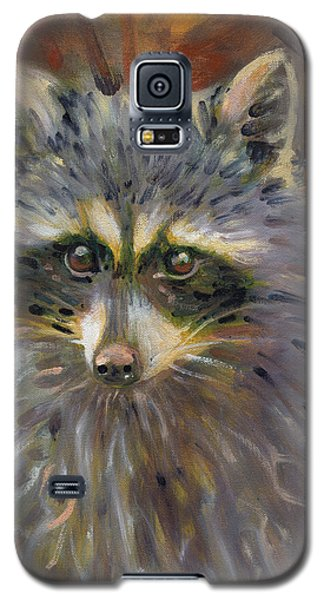 Galaxy S5 Case featuring the painting Racoon by Donald Maier
