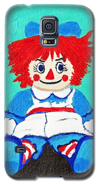 Galaxy S5 Case featuring the painting Raggedy Ann With An Attitude by Margaret Harmon