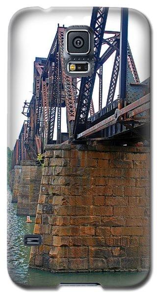 Galaxy S5 Case featuring the photograph Railroad Bridge 2 by Kay Lovingood