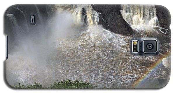 Galaxy S5 Case featuring the photograph Rainbow And The Waterfall by Vilas Malankar