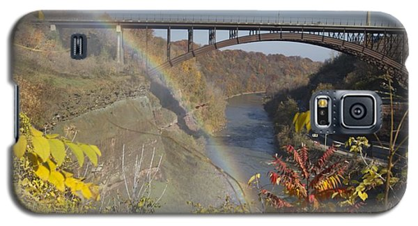 Galaxy S5 Case featuring the photograph Rainbow At Lower Falls by William Norton