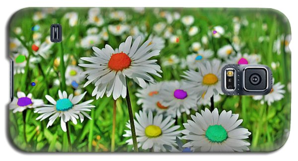 Galaxy S5 Case featuring the photograph Rainbow Daisy's by Tyra  OBryant