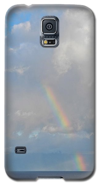Galaxy S5 Case featuring the photograph Rainbow From Molokai by Kirsten Giving