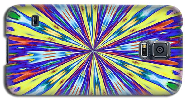 Galaxy S5 Case featuring the digital art Rainbow In Space by Alec Drake