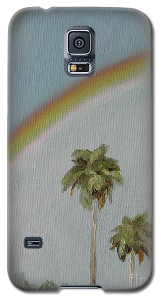 Galaxy S5 Case featuring the painting Rainbow by Jindra Noewi