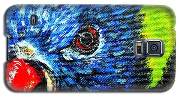 Galaxy S5 Case featuring the painting Rainbow Lorikeet Look by Julie Brugh Riffey