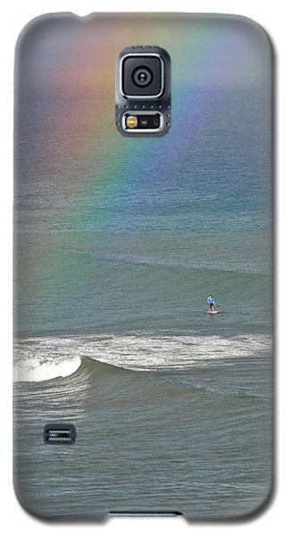 Galaxy S5 Case featuring the photograph Rainbow Mists And Surfing Too by Kirsten Giving