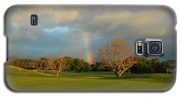 Galaxy S5 Case featuring the photograph Rainbow Over Princeville by Lynn Bauer