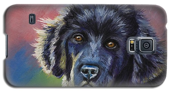 Rainbows And Sunshine - Newfoundland Puppy Galaxy S5 Case