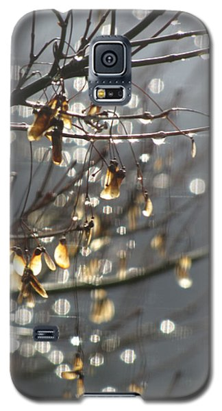 Raindrops And Leaves Galaxy S5 Case