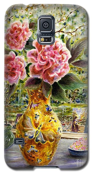 Galaxy S5 Case featuring the painting Rainy Afternoon Joy by Dee Davis