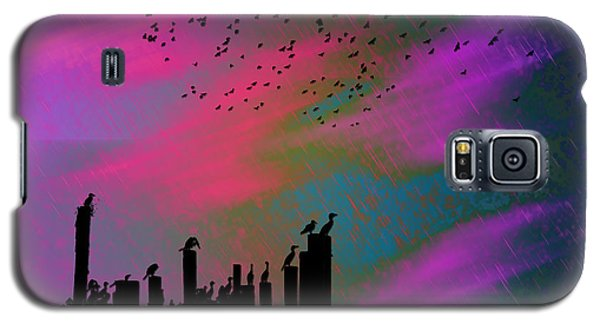 Rainy Rainy Night Galaxy S5 Case by Barbara Middleton