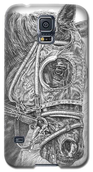 Ready Set Go - Race Horse Portrait Print Galaxy S5 Case