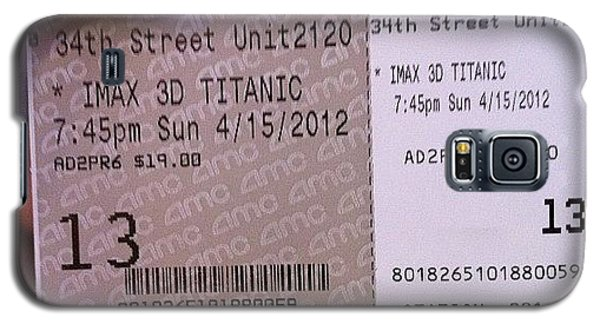 Movie Galaxy S5 Case - Ready To See Titanic 3d Imax by Luis Alberto