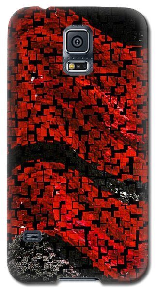 Galaxy S5 Case featuring the painting Red And Black Abstract by Carolyn Repka