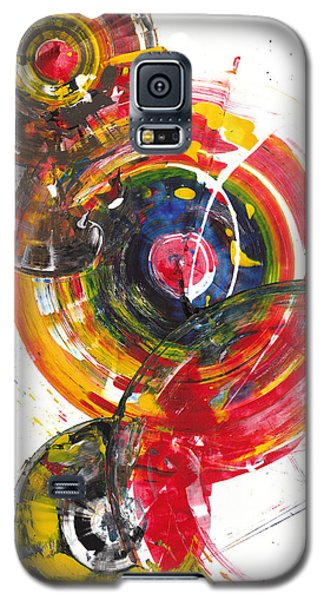 Galaxy S5 Case featuring the painting Red And Blue's Gold  837.120811 by Kris Haas