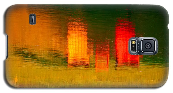 Galaxy S5 Case featuring the photograph Red And Orange Chairs by Les Palenik
