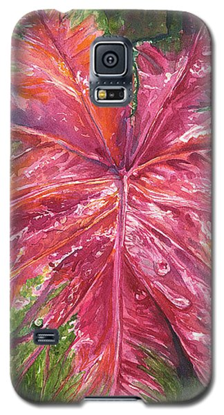 Galaxy S5 Case featuring the painting Red And Wet by AnnaJo Vahle