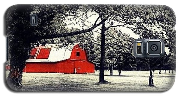 Edit Galaxy S5 Case - Red Barn by Mari Posa