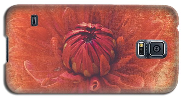 Galaxy S5 Case featuring the photograph Red Dahlia by Alana Ranney