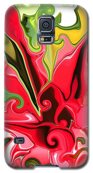 Red Fantasy Lily Galaxy S5 Case