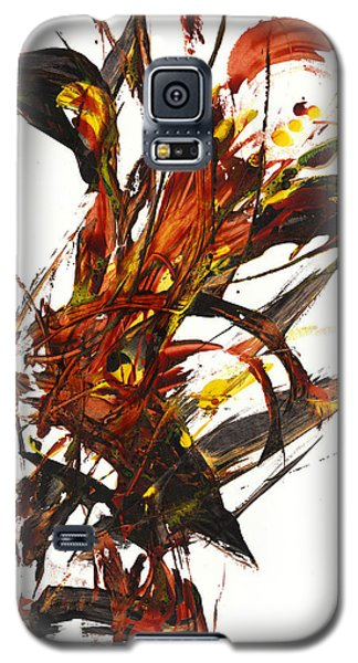 Galaxy S5 Case featuring the painting Red Flame II 65.121410 by Kris Haas