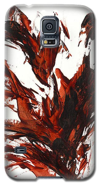 Galaxy S5 Case featuring the painting Red Flame IIi 64.121410 by Kris Haas