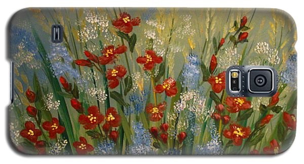 Red Flowers In The Garden Galaxy S5 Case