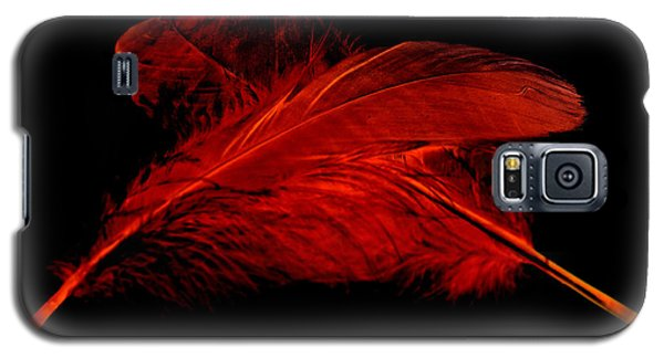 Red Ghost On Black Galaxy S5 Case