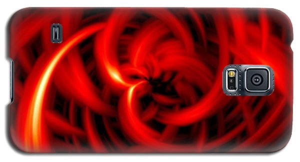 Galaxy S5 Case featuring the digital art Red Hot by Davandra Cribbie