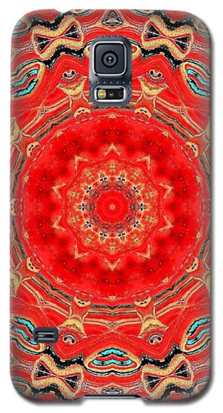 Galaxy S5 Case featuring the painting Red Kalideoscope by Carolyn Repka