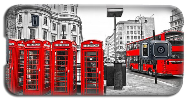 Galaxy S5 Case featuring the photograph Red London by Luciano Mortula