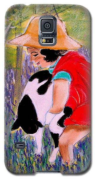 Red Riding Hood In Bluebell Wood Galaxy S5 Case