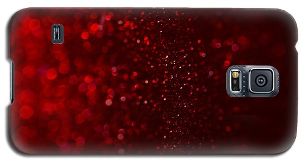 Red Sparkle Galaxy S5 Case by Clare Bambers