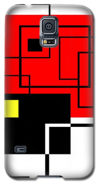 Red Square A La Mondrian Galaxy S5 Case
