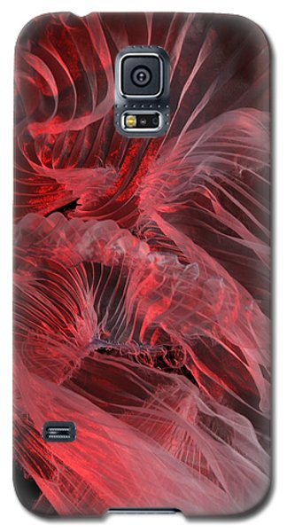 Galaxy S5 Case featuring the photograph Red Textures by Gillian Charters - Barnes