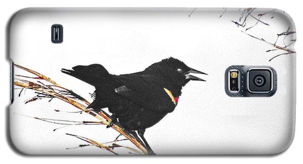 Galaxy S5 Case featuring the digital art Red Winged Blackbird by Lizi Beard-Ward