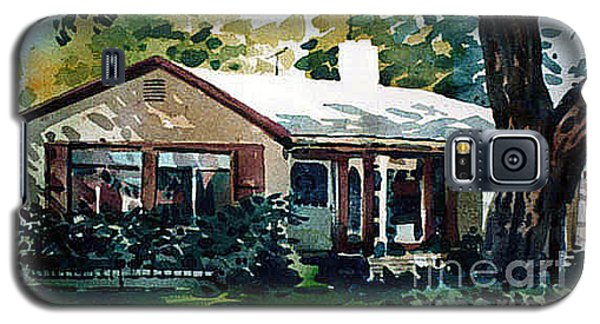 Galaxy S5 Case featuring the painting Redwood City House #1 by Donald Maier