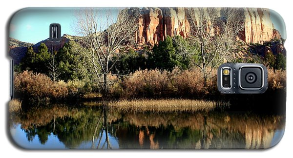 Galaxy S5 Case featuring the photograph Reflection At Ghost Ranch by Laurel Talabere