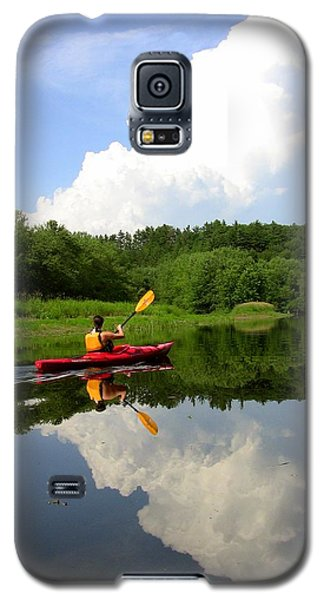 Reflection Of A Kayaker On The Merrimack Galaxy S5 Case