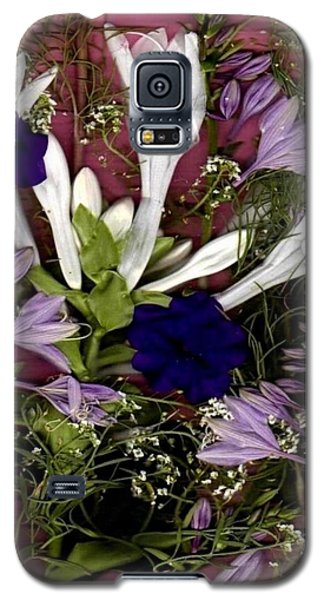 Galaxy S5 Case featuring the mixed media Restful Flowers For You by Ray Tapajna