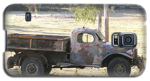 Galaxy S5 Case featuring the photograph Retired Power Wagon by Sue Halstenberg