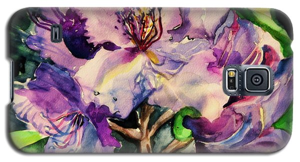 Rhododendron Violet Galaxy S5 Case by Mindy Newman