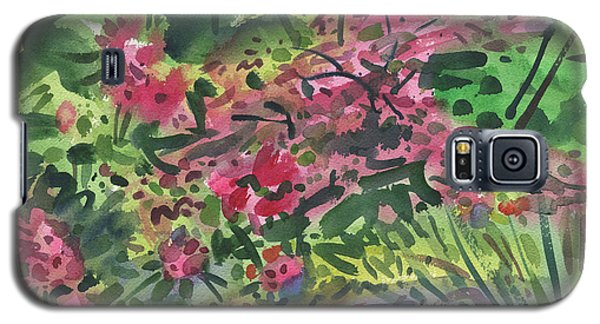 Galaxy S5 Case featuring the painting Rhododendrons And Azaleas by Donald Maier