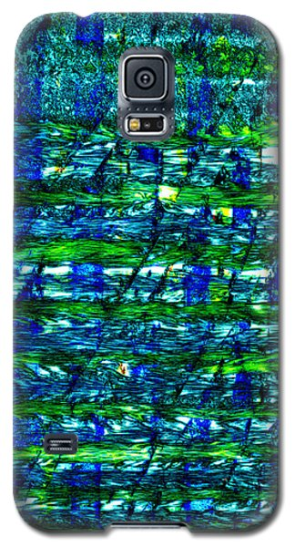 Galaxy S5 Case featuring the mixed media Rice Harvest by Terence Morrissey