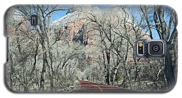 Galaxy S5 Case featuring the photograph Road Through Zion Canyon by Bob and Nancy Kendrick