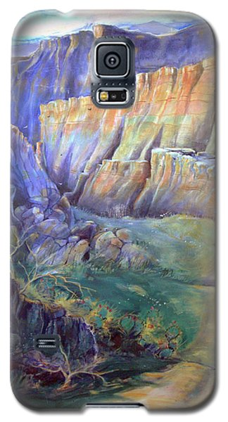 Road To Rainbow Gulch Galaxy S5 Case by Gertrude Palmer