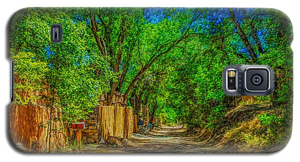 Galaxy S5 Case featuring the photograph Road To Santa Fe by Ken Stanback