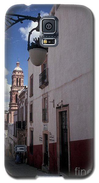 Galaxy S5 Case featuring the photograph Road To The Cathedral Zacatecas Mexico by John  Mitchell